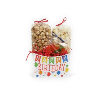 """Happy Birthday Banner"" Small Gift Basket Box"