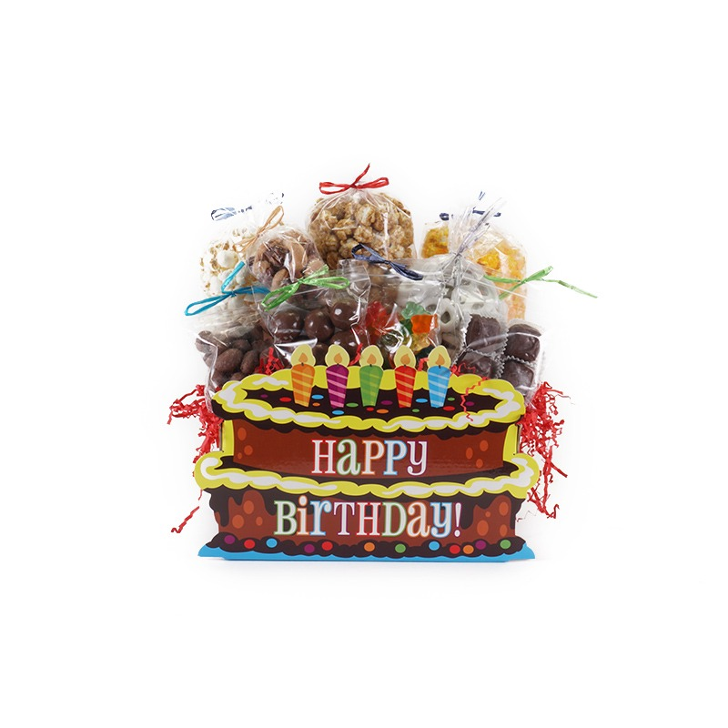 Birthday Cake Large Gift Basket Box