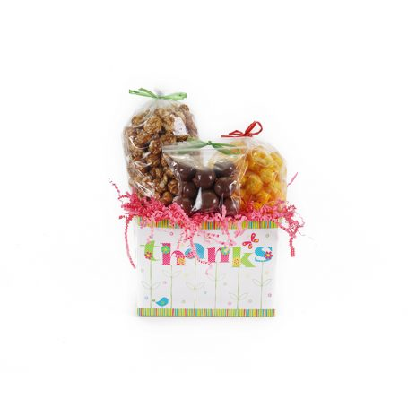 """Thanks in Bloom"" Small Gift Basket Box"