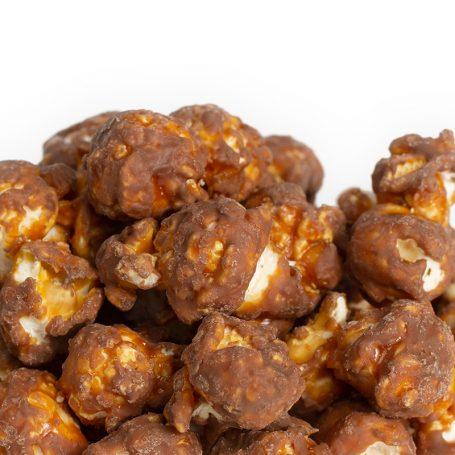 Milk Chocolate Peanut Butter Popcorn with Peanuts