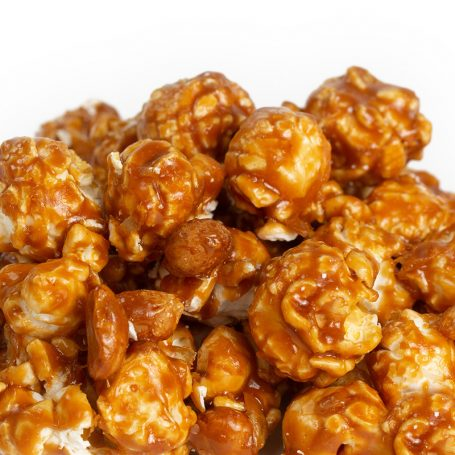 Peanut Butter Popcorn with Peanuts