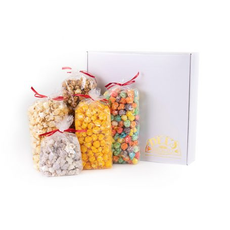 Extra-Large White Del's Popcorn Gift Box