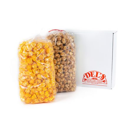 Medium White Del's Popcorn Gift Box