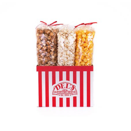 The Traditional Del's Popcorn Sampler